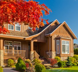 house in the fall foliage