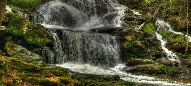 A waterfall in New Hampshire, where movers North Hampton NH will relocate you.