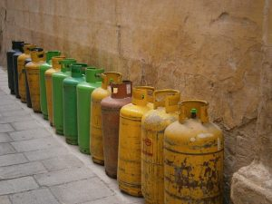 Gas bottles - one of the advantages of corporate storage is that you can store these items in them.