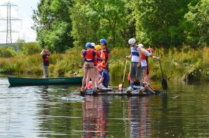 Children sailing on the river - great option to have family fun in Concord NH