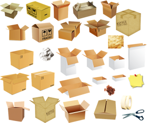 Packing supplies is what you can't do without when packing your bedroom.