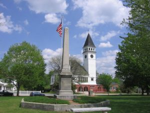 A monument in Hollis, New Hampshire where movers Hollis will help you relocate