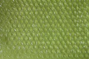 Bubblewrap being one of the most common types of packing materials