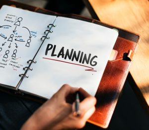 A planner with planning written on it