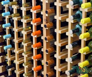 Storing a wine collection in a storage unit