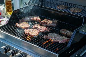 A gas bbq grill