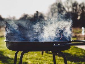 A smoking grill