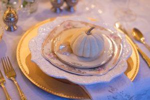 A set of fine china plates