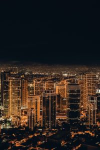 Image of a city in the night