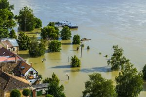 A flooded area