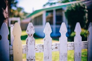 A white picket fence.
