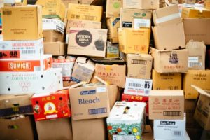 Cardboard boxes you'd need to sort out in order to save money on storage.