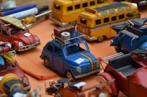 Toys on a yard sale