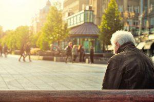 An older man enjoying a sunny day