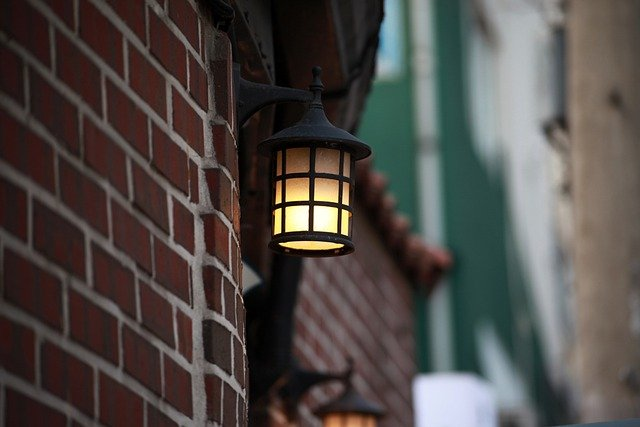 a light fixture used to boost your home's curb appeal