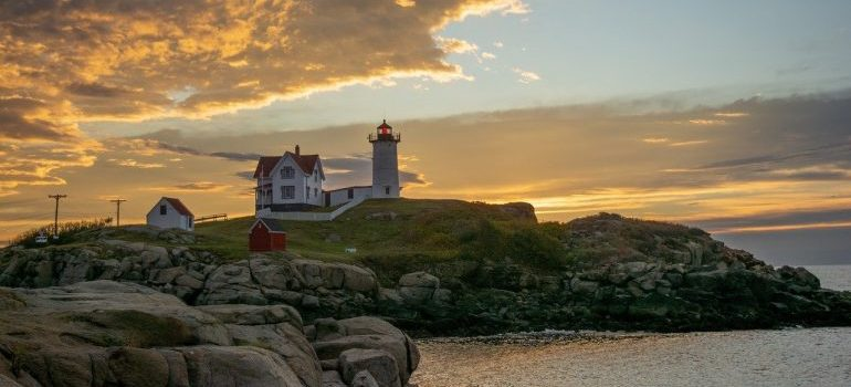 A lighthouse to see after moving with movers york maine