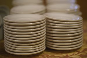 Stockpiled plates you will use when you pack your dining room