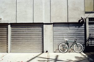 a bike in front of the storage - before you rent a storage unit, visit it