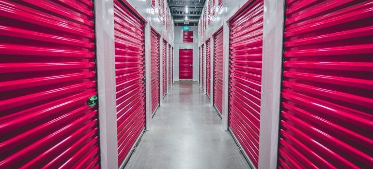 red storage unit in Manchester NH