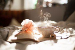 a book and tea