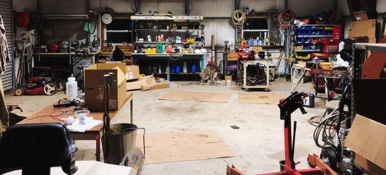 garage full of tools