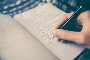 a checklist