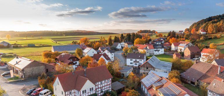 a landscape of a town