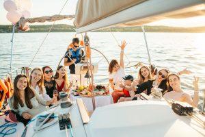 people having fun on a boat