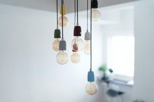 lightbulbs on a string