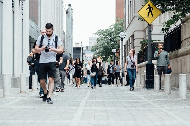 people walking - exploring your new hometown after moving