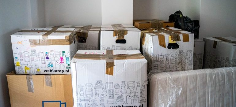 A room full of boxes