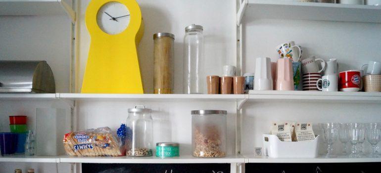 Food items on the shelf