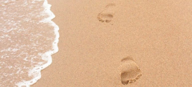 Leaving footprints in the sand is one of the first things you want to do in Saco as a newcomer