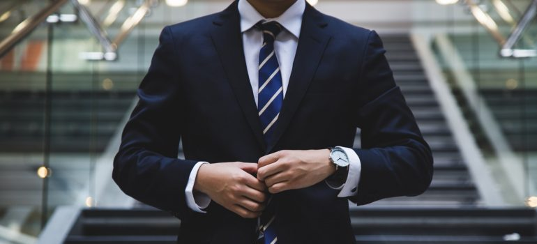 A person in a suit