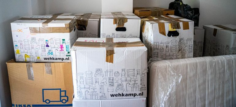 Many packed boxes