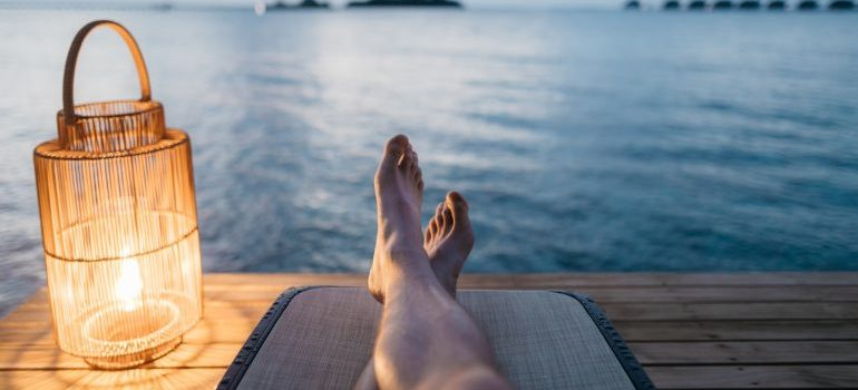 A person relaxing
