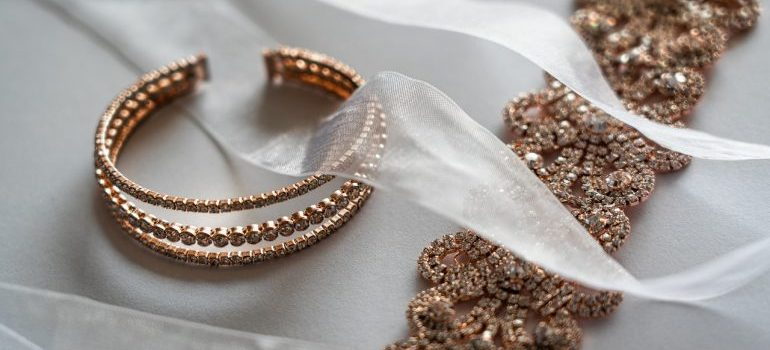 Close up picture of jewelry