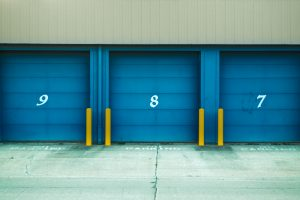 entrances to storage units